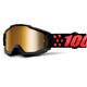 100% Accuri goggles Anti Fog Mirror Lens / zwart